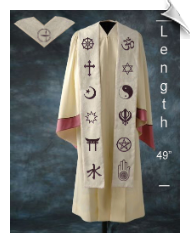 Custom-designed Interfaith Stole