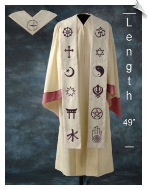 Large Custom Interfaith Stole